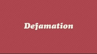 defamation in law Defamation is an illegal act in all fifty states and although the action does not pose physical threats or damage, the end result of defamation will result in a damaged reputation.
