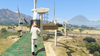 Extreme Windmill Parkour Race (GTA 5 Funny Moments)