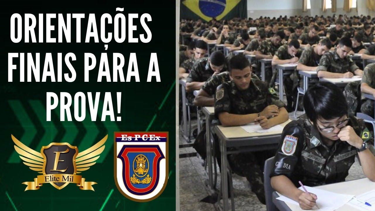 OREINTAÇÕES FINAIS PARA A PROVA DA ESPCEX 2020 - TIRE SUAS DÚVIDAS, VÁ E VENÇA!