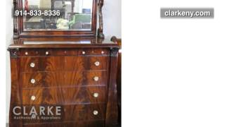 Empire Mahogany Bed Set | Empire  Bed Set | Empire Furniture | Clarke Auction Gallery