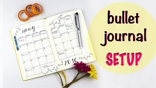 my bullet journal setup
