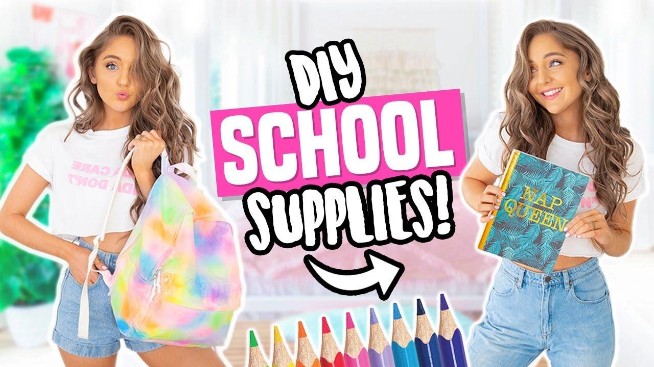 DIY BACK TO SCHOOL SUPPLIES 2018!