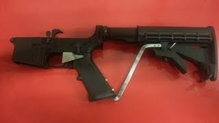 Home made slide fire stock for less than $20 Part 1 (link attached 10/09/17)