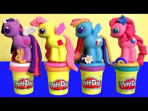 Thumbnail: New Play Doh My Little Pony Make 'N Style Ponies Twilight Sparkle, Rainbow Dash, Pinkie Pie MLP 2015