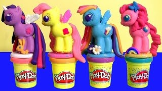 New Play Doh My Little Pony Make 'N Style Ponies Twilight Sparkle, Rainbow Dash, Pinkie Pie MLP 2015(This is My Little Pony Play Doh Make n' Style Ponies from the