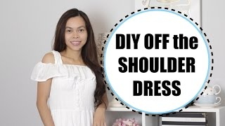 CONVERT SLEEVELESS DRESS INTO AN Off the Shoulder Dress