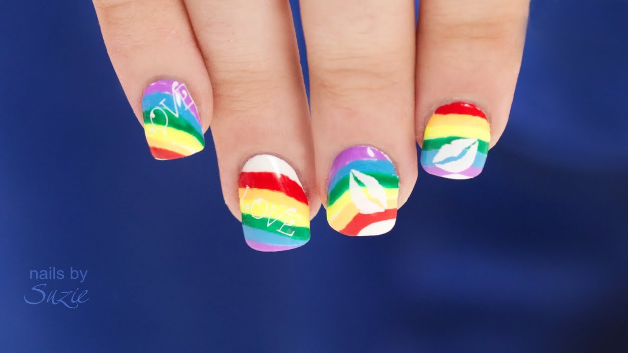 Rainbow Nails For Grant