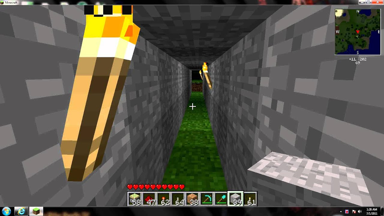 Minecraft Piston Tunnel Entrance 17 Youtube