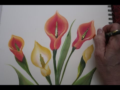how-to-paint-a-lilly!-(2018)-i-donna-dewberry
