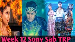 Sony Sub Serial TRP List   This Week TRP List   Top 7 Serial in TRP List   Week 12  TRP LIST 2020