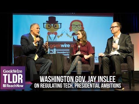 Highlights: Washington Gov. Jay Inslee on regulating tech, presidential ambitions   GeekWire Gala