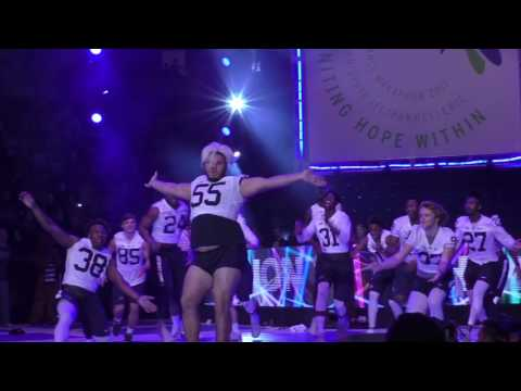Thon 2017: Penn State football Pep Rally dance
