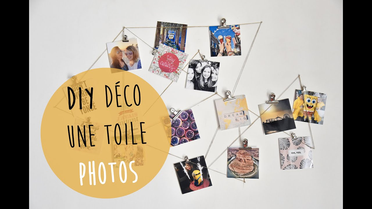 Häufig DIY DÉCO : toile photos (Instagram, Polaroïd) - YouTube SK49