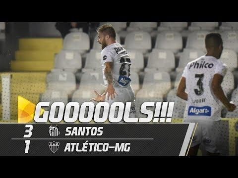 SANTOS 3 X 1 ATLÉTICO-MG | GOLS | BRASILEIRÃO (09/06/19)