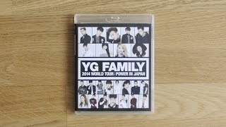 [UNBOXING] YG Family - World Tour 2014 - Power in Japan (blue-ray)