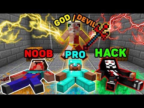 Minecraft NOOB vs PRO vs HACKER vs GOD: GOD REJOINED WITH DEVIL! in Minecraft Animation