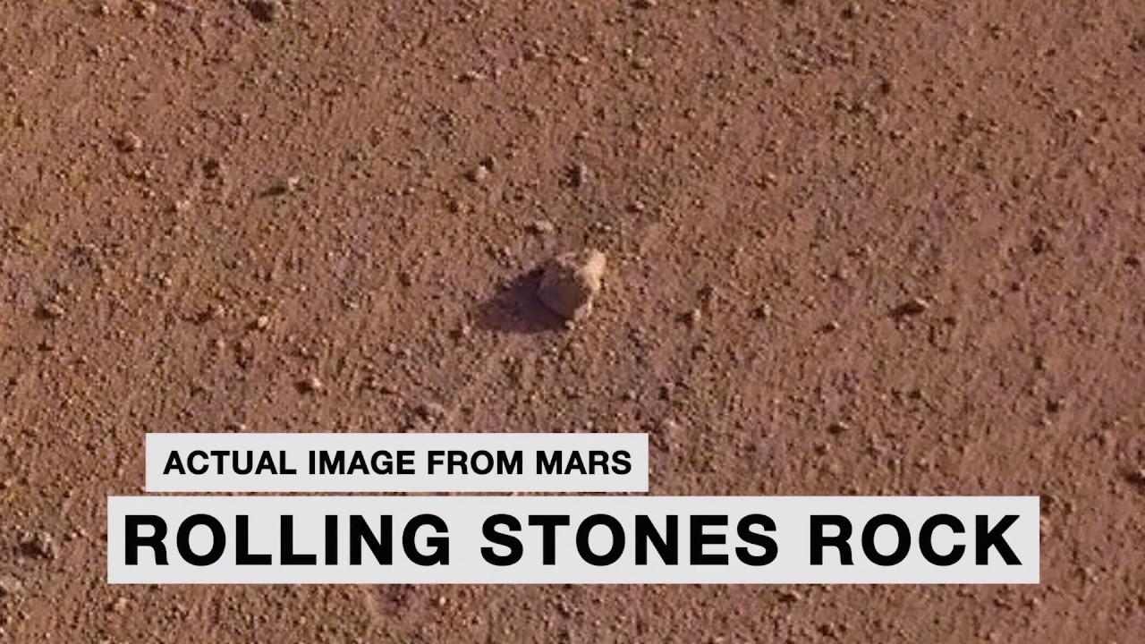 "NASA Names ""Rolling Stones Rock"" on Mars"