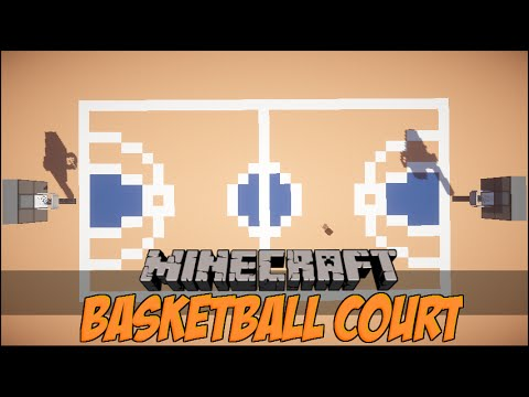 How to make a basketball court in minecraft youtube for How to build basketball court