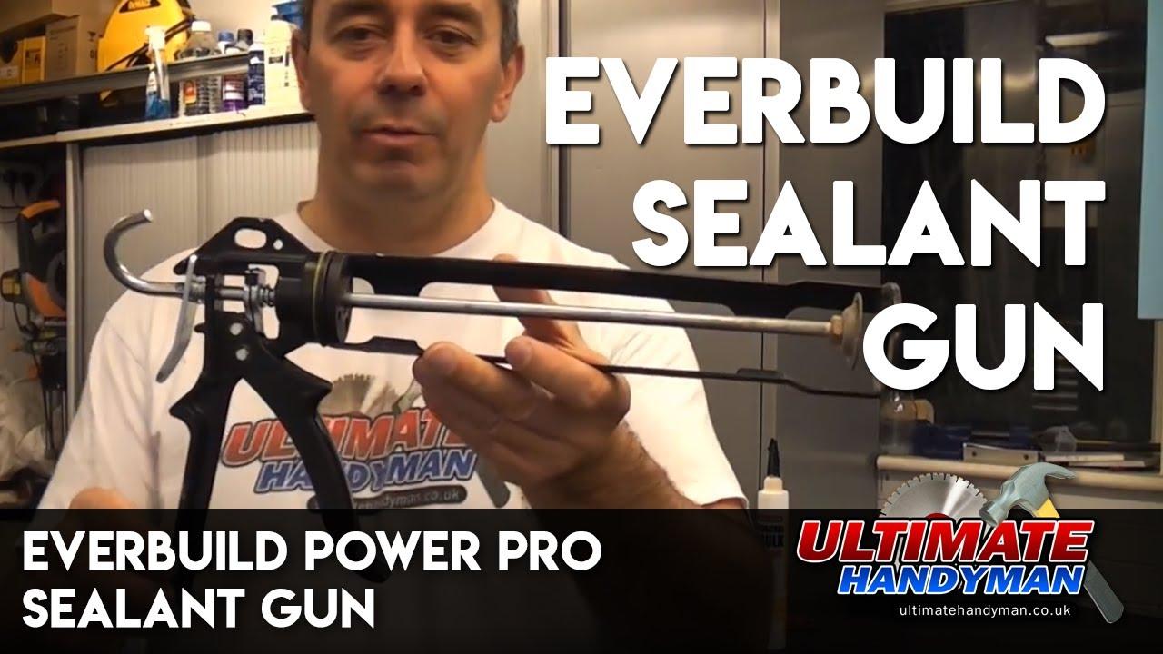 Everbuild Power Pro Sealant Gun Heavy Duty Silicone Applicator 400ml Cartridges