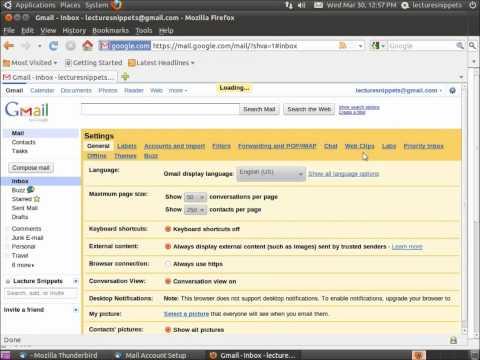 Installing And Configuring Mozilla Thunderbird In Ubuntu 10.10