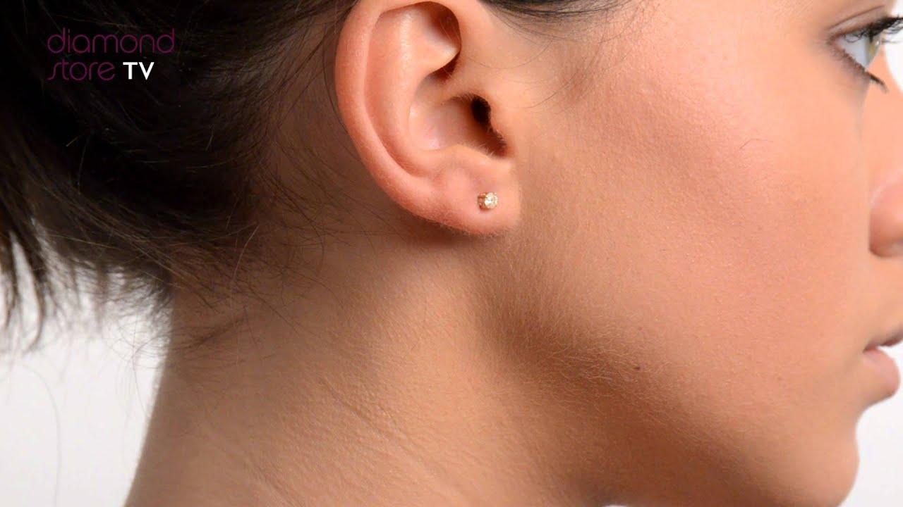 4d2ad8e44 Diamond Gold 3mm 18K 0.20ct Stud Earrings - FG23 42A - YouTube