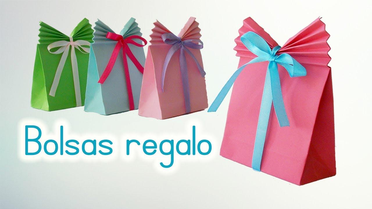 Bolsas de papel para regalo manualidades de lina youtube - Como hacer bolsas de regalo ...