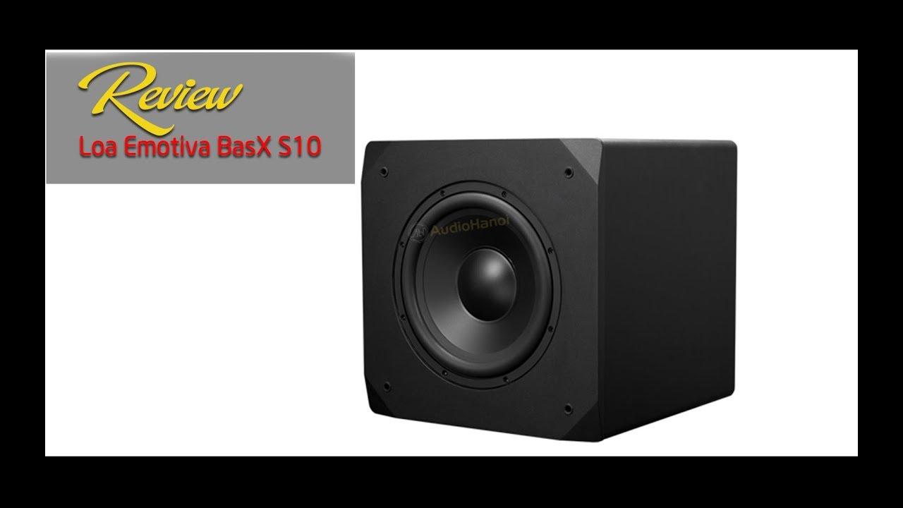 Loa siêu trầm Emotiva BasX S10 - Loa sub gia đình nhập khẩu từ Mỹ | AudioHanoiTV 239