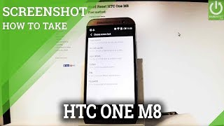 HTC One M8 SCREENSHOT / How to Take Screenshot in HTC