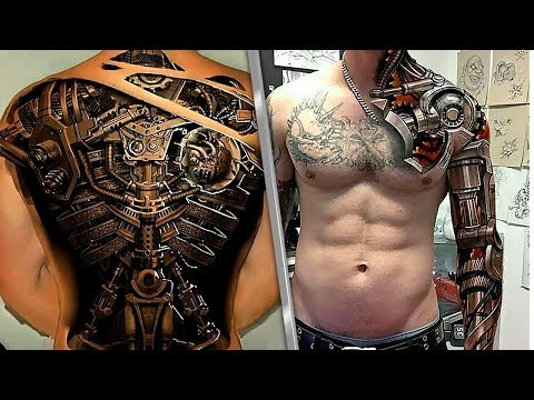 Невероятные 3D Татуировки, Вы Должны Это Видеть!
