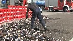 Laster verliert 80 Kisten Rothaus-Bier im Höllental