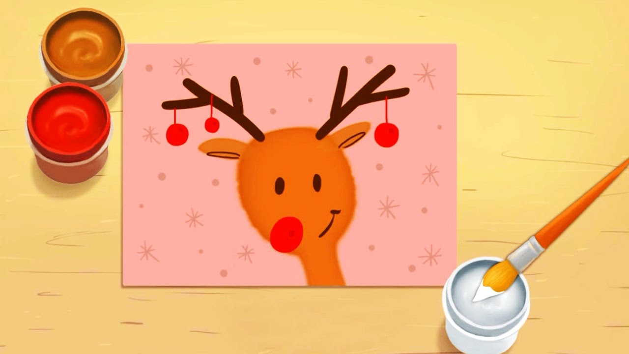 Christmas 2016 how to make christmas paint for kids for Teaching kids to paint on canvas