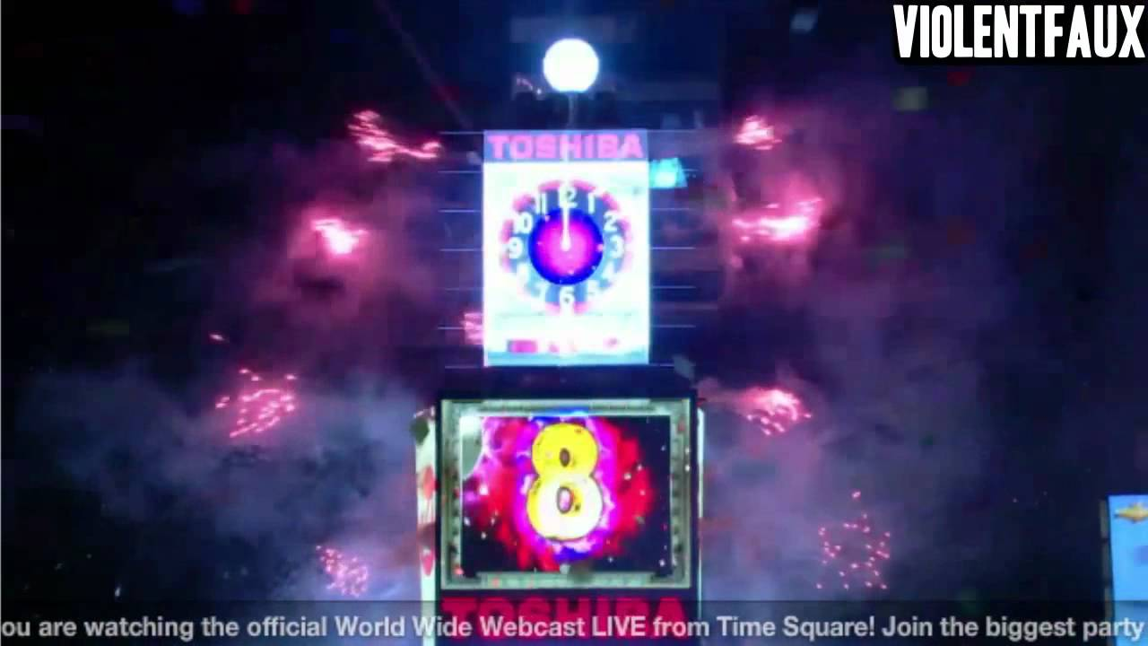 2011-2012 New Years Eve Times Square Ball Drop. Lady Gaga & Mayor Bloomberg