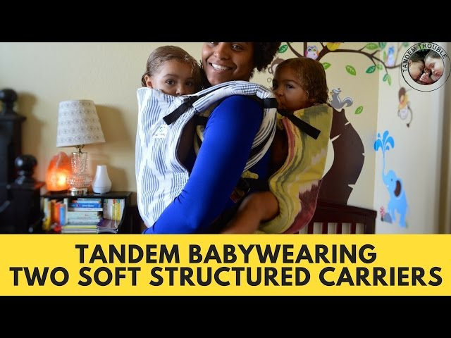 Tandem Babywearing: Two Soft Structured Carriers (SSC)