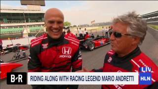 Living legend Mario Andretti takes Coy Wire for a ride