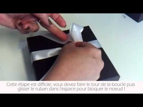 Tuto comment faire un noeud avec du ruban youtube - Comment faire un emballage cadeau ...