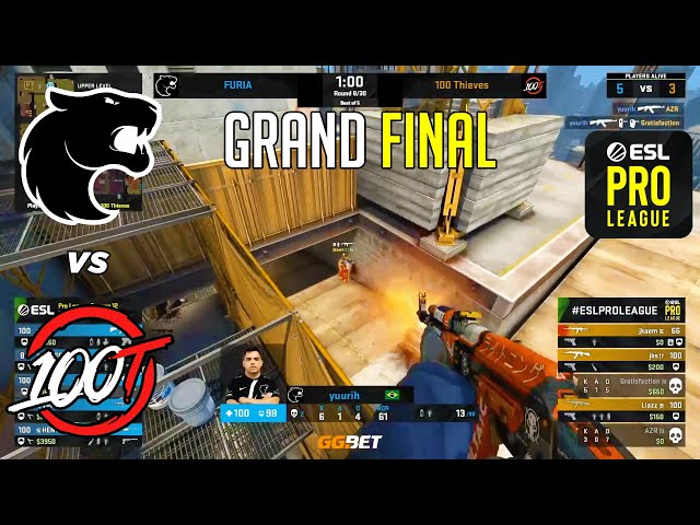 GRAND FINAL! FURIA vs 100 Thieves - ESL Pro League - HIGHLIGHTS l CSGO