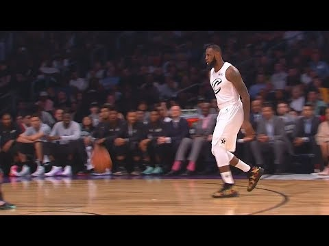 LeBron James Bounce Pass Alley-Oop to Anthony Davis! 2018 NBA All-Star Game