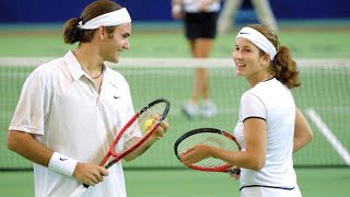 The Day Federer and His Wife Mirka Played Doubles Together (Beginning of a Great Love Story)