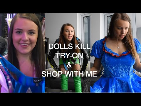 DOLLS KILL SHOP WITH ME   WEIRDEST TRY-ON EVER!! thumbnail