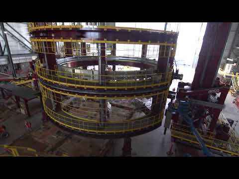 Caisson Lifted Into Place at JMAF at Newport News