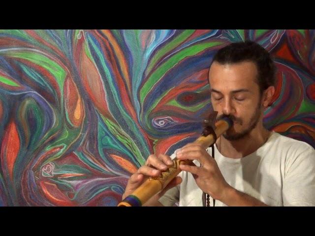 Flauta Nativa Tribal Aventurina F#