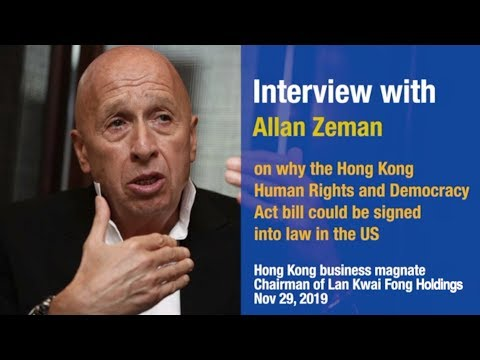 Allan Zeman: Why HK Bill Was Signed Into Law In The U.S.?