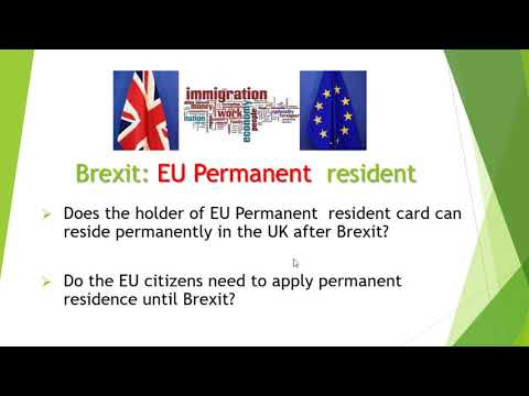 How Brexit Will Affect EU parmanent residence card holder in the UK