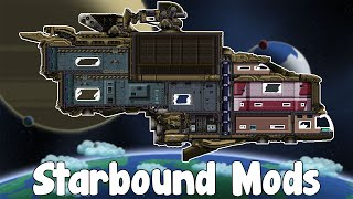 Starbound Mods - Collectable Figurines , Automatic Doors , Better Lantern & Andromeda Ship!