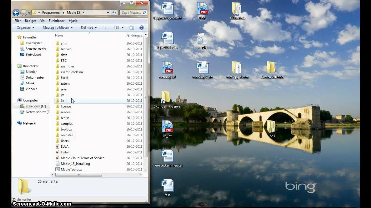 placering af Maple.ini fil på PC..mp4
