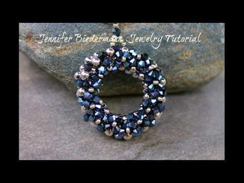 Round crystal embellished pendant