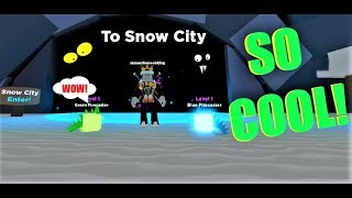 how to get to THE SNOW CITY in LEGENDS OF SPEED! (Roblox)