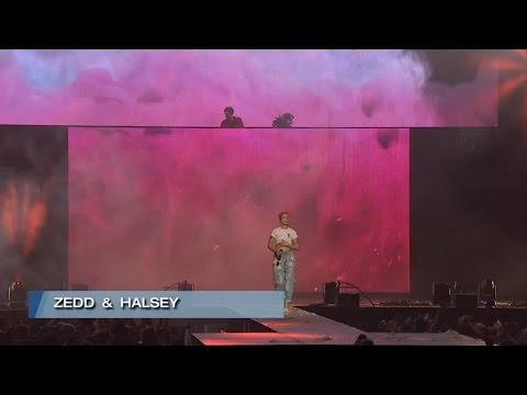 ZEDD & Halsey perfomance @ WELCOME! Fundraising concert for ACLU