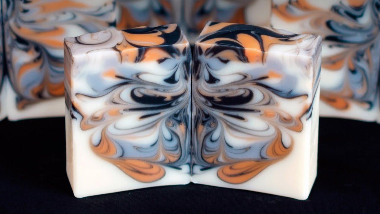 Butterfly Swirl Soap Making