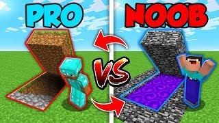 Minecraft NOOB vs. PRO : SECRET BASE in Minecraft (Compilation)